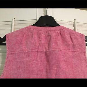 Tommy Bahama Tops - Pink Tommy Bahama Linen Sleeveless Shirt